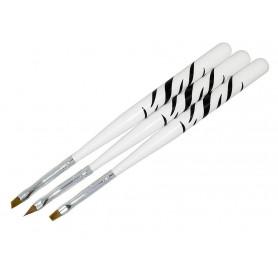 Pack 3 x Pinceles Zebra (uñas de gel)