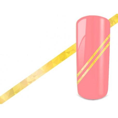 Nail Art Stripes - Hologram Gold