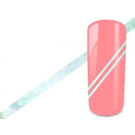 Nail Art Stripes - Hologram Blue