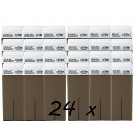 Pack 24 Roll On Cera Chocolate