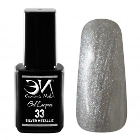 EN Gel Lacquer Nº 33 - Silver Metallic - 12ml